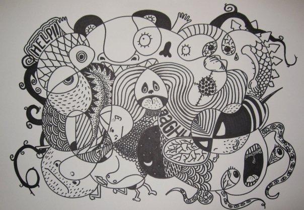 Simple Continuous Line Art : Curkovicartunits doodle lab club activity