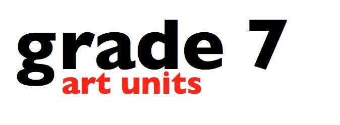curkovicartunits grade 7 art units